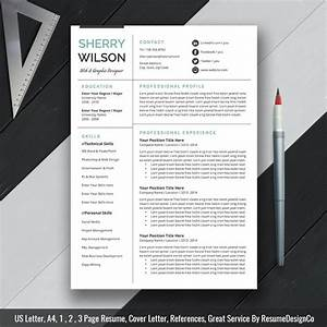 2020 Ms Word Resume Template  Cover Letter And References