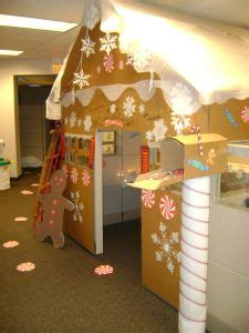 gingerbread house office cubicle   won
