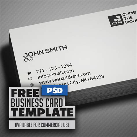 clean business card template free free minimal clean business card psd template freebies