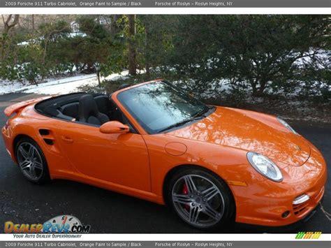 orange porsche convertible 2009 porsche 911 turbo cabriolet orange paint to sle