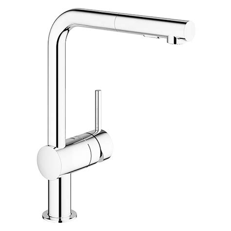 single handle kitchen faucet with pullout spray grohe minta single handle pull out sprayer kitchen faucet