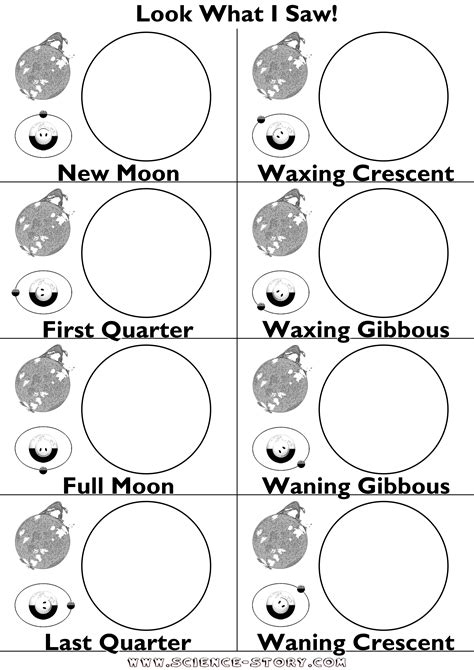 16 Best Images Of Moon Images Of Worksheets Printables  Moon Phases Worksheet Printable Free