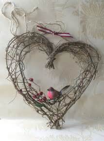 Rustic Heart Twig Wreath