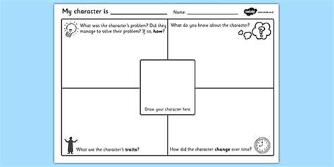 character description writing template character description