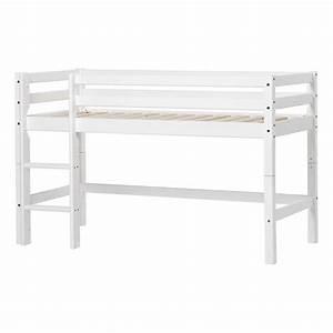 Echelle Lit Mezzanine : lit mezzanine bas basic avec chelle 70x160 cm blanc hoppekids ~ Teatrodelosmanantiales.com Idées de Décoration