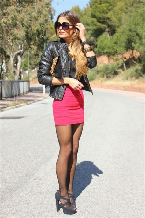 Tight Mini Skirt Long Sexy Killer Legs Peep Toe Platform