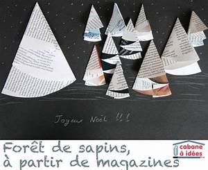 Sapin En Papier Plié : une for t de sapin en papier de magazines cabane id es ~ Melissatoandfro.com Idées de Décoration