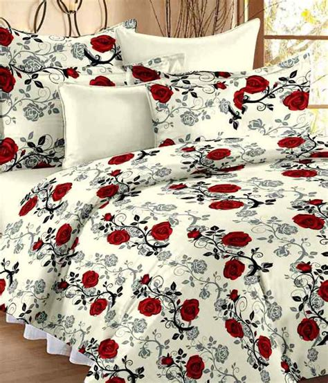 Cotton Bed Sheets by Ahmedabad Cotton Floral 100 Cotton Bedsheet Buy