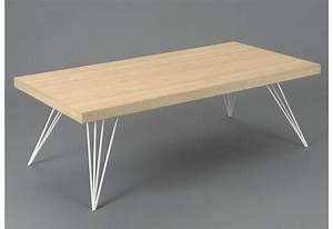 Table Basse Scandinave Playroom Pieds Mtal Blanc Et