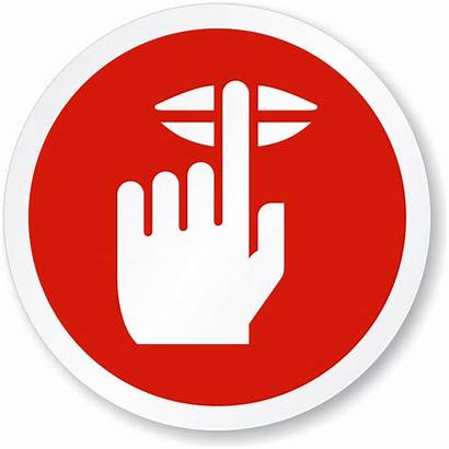Quiet Please Sign Symbol Clipart Finger Lips