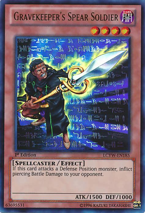 yugioh gravekeeper deck list gravekeeper s spear soldier yu gi oh