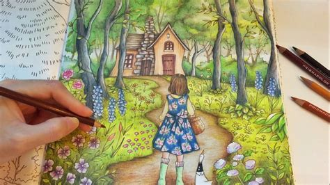 forest romantic country coloring book