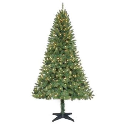 home holiday 6 5 ft pre lit verde pine christmas tree