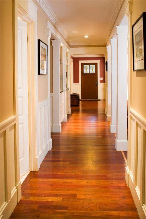craftsman style hallway  warm hardwood floors hgtv