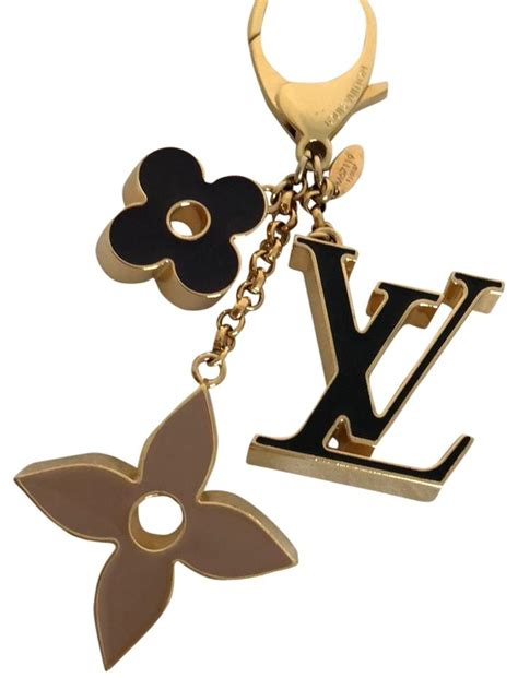 louis vuitton gold fleur de monogram bag charm tradesy