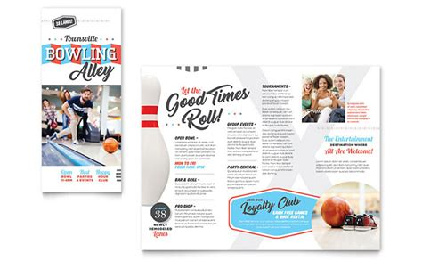 Trifold Poster Template Free Publisher by Bowling Brochure Template Design