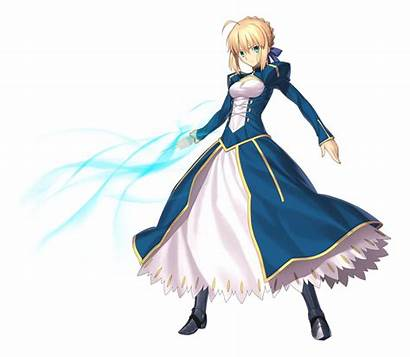 Fate Saber Stay Night Anime Transparent Fgo