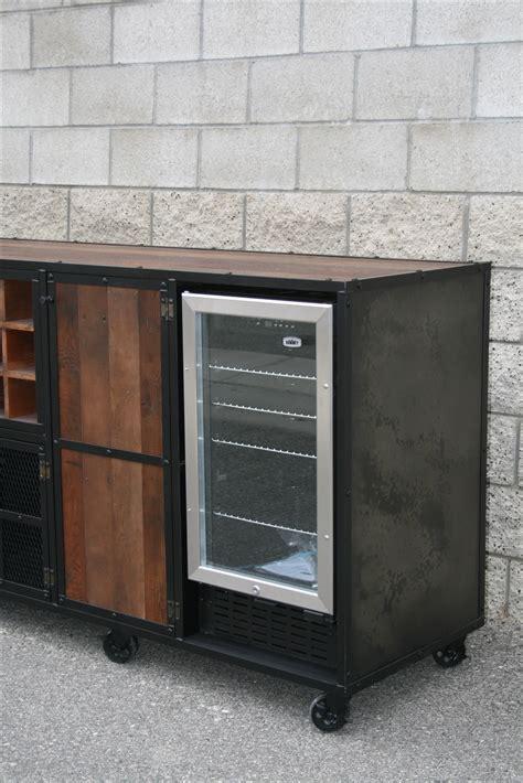 liquor cabinet with wine fridge buy a handmade beverage center liquor cabinet