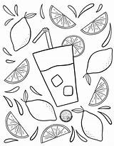 Coloring Lemonade Pages sketch template