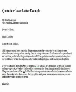 9 sample quotation letters in doc sample templates With best price quotation letter
