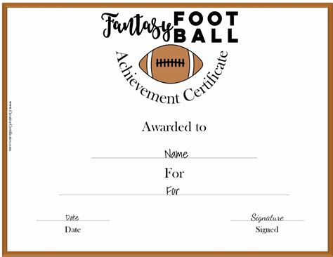 fantasy football awards customize  print