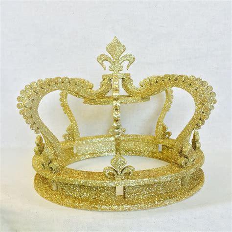 gold glitter crown cake topper wedding cake top princess