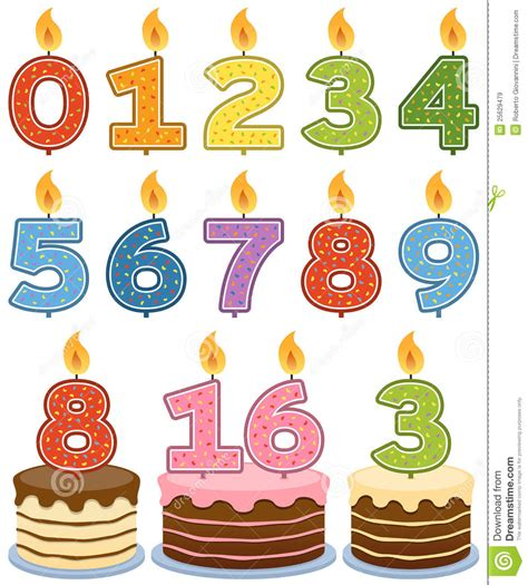candele di compleanno candele numerate di compleanno immagini stock libere da