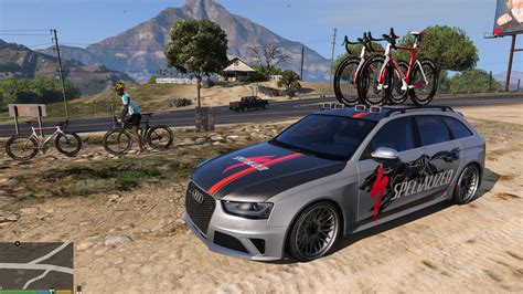 Audi Rs4 Avant With Bike On Roof Rack,specialized Pj