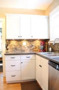 kitchen knobs and pulls ideas small kitchen remodel featuring slate tile backsplash