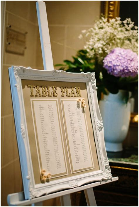 shabby chic table plan romantic french style lake geneva wedding