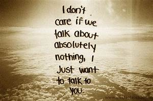 About love quot... Nice Talks Quotes