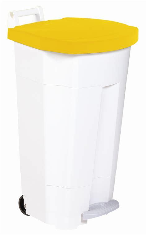 poubelle cuisine jaune poubelle de cuisine rossignol haccp 90 litres jaune