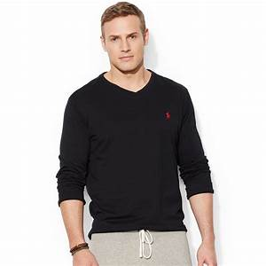 Polo V : polo ralph lauren big and tall long sleeve v neck t shirt in black for men rl black lyst ~ Gottalentnigeria.com Avis de Voitures