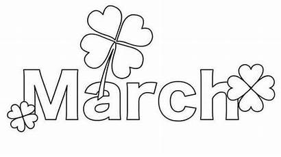 March Coloring Pages Printable Month Colouring Sheets