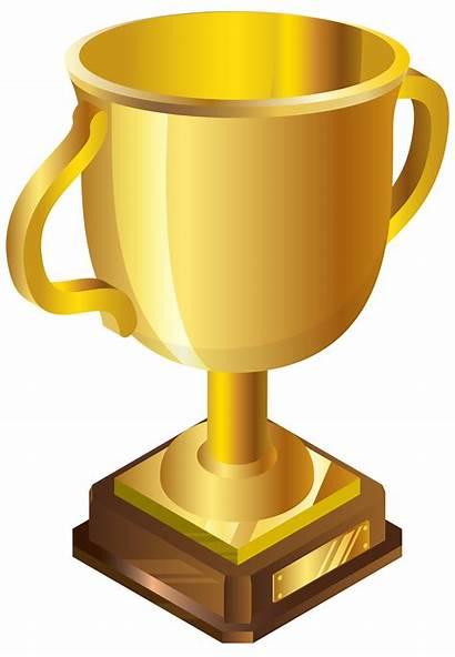 Cup Gold Trophy Clipart Golden Clip 3d