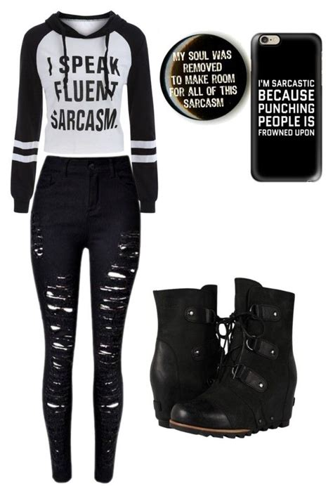 U0026quot;Sarcasmu0026quot; by secondaryterror on Polyvore featuring Casetify and SOREL | Outfits | Pinterest ...