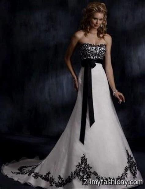 white and black gothic wedding dresses 2016 2017 b2b fashion