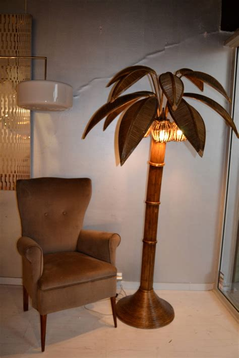 tree floor l 1970s large palm tree floor l in bamboo at 1stdibs