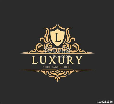 luxury logovector logo template stock image  royalty