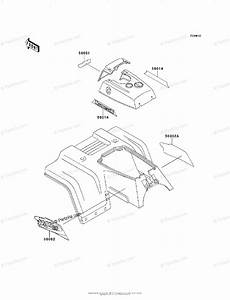 Kawasaki Atv 1998 Oem Parts Diagram For Decals Red  Klf220