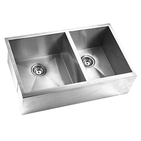decor sinks shop yosemite home decor 33 in x 20 5 in satin stainless steel double basin stainless steel