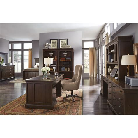 Flexsteel Wynwood Collection Walnut Creek Executive Desk