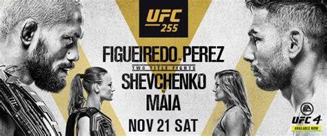 Guide To UFC 255: Figueiredo vs. Perez, Shevchenko vs ...