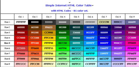 html code for font color html color codes tool wonderful place to