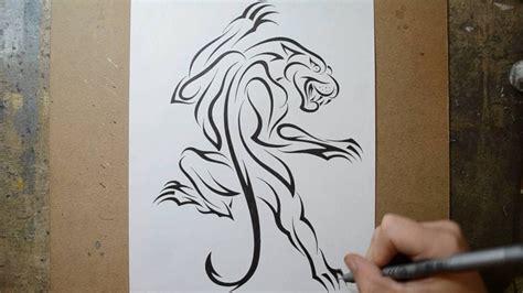 designing  classic climbing panther tattoo design