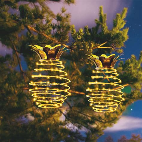 pcs  garden solar lights pineapple lights hanging
