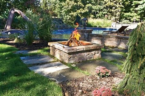 wood burning pit ideas fire pit centerport ny photo gallery landscaping network