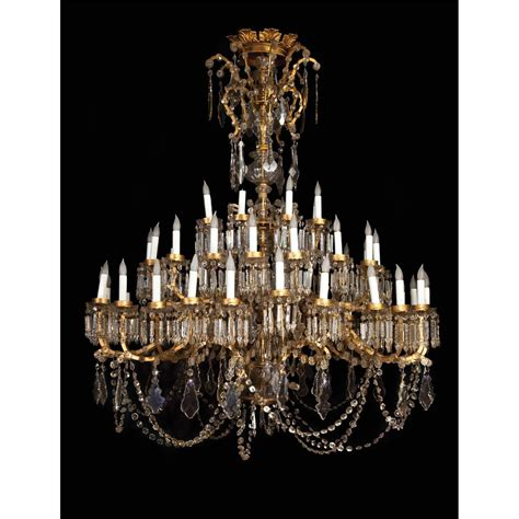 Used Chandeliers by Monumental 20th Century Rococo Style Cut Glass Chandeliers