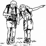 Scout Coloring Hiking Routier Hiken Scoutisme Scouting Kleurplaat Devenir Pourquoi Kleurplaten Start sketch template
