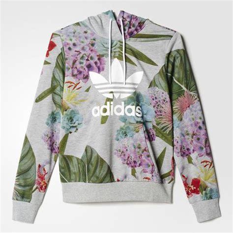 bloemen hoodie 2016 jan adidas originals trefoil logo floral women s
